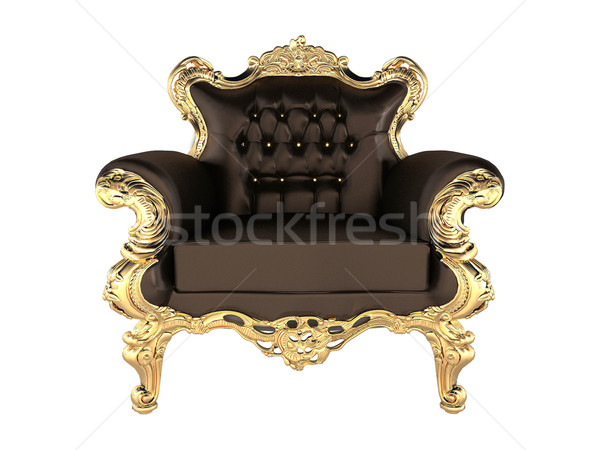 Leather Armchair with luxury gold frame Stock photo © Victoria_Andreas