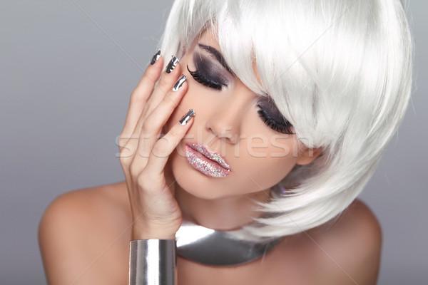 Mode blond Mädchen Schönheit Porträt Frau Stock foto © Victoria_Andreas