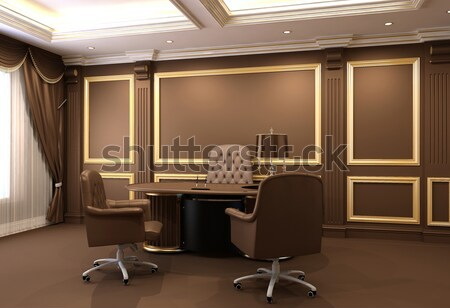 Conference table in royal office interior space. Old styled apar Stock photo © Victoria_Andreas