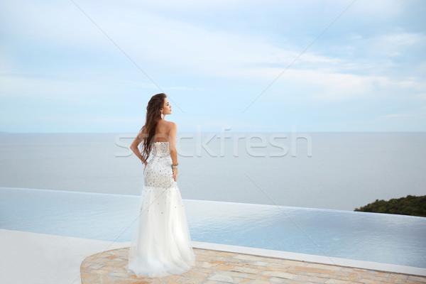 Stok fotoğraf: Düğün · güzellik · moda · zarif · gelin · kadın