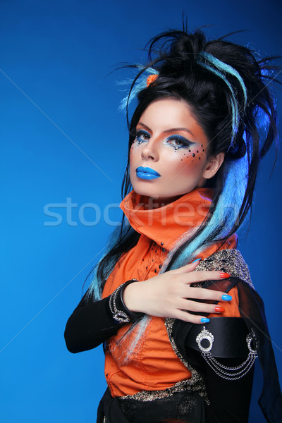 Beauty Fashion Girl Portrait. Makeup. Manicured nails. Hairstyle Stock photo © Victoria_Andreas