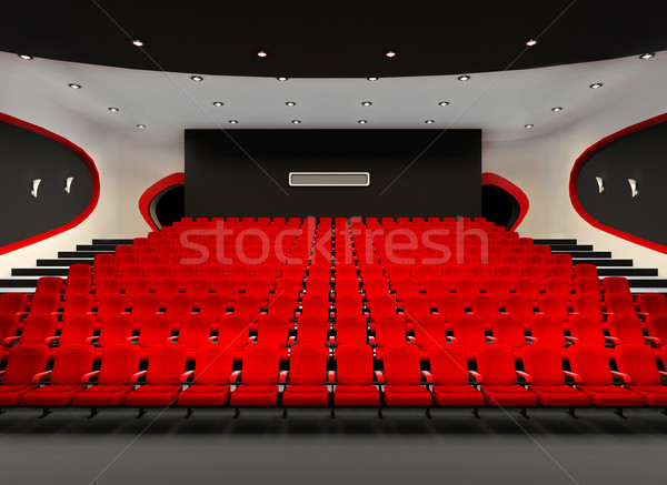 Perspective of Cinema red seats in cinema audience hall Stock photo © Victoria_Andreas