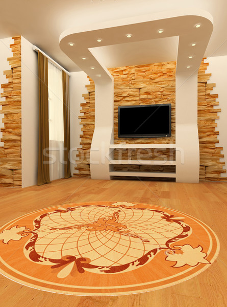 Construction of ceiling and wall with laminated flooring board Stock photo © Victoria_Andreas