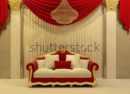 Baroque armchair in luxurious interior hall Stock photo © Victoria_Andreas