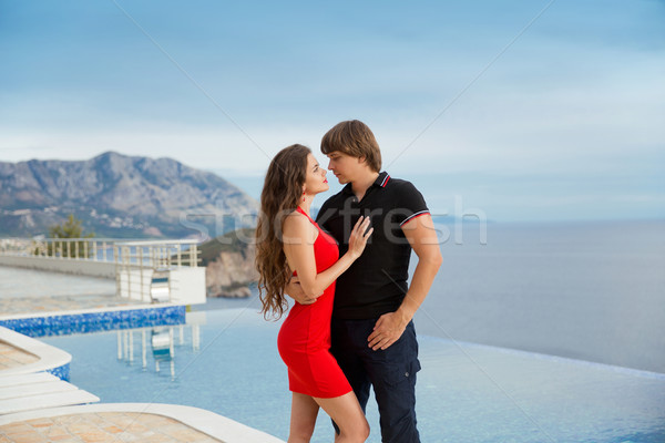 Young fashionable couple. Vacation holidays background. Handsome Stock photo © Victoria_Andreas