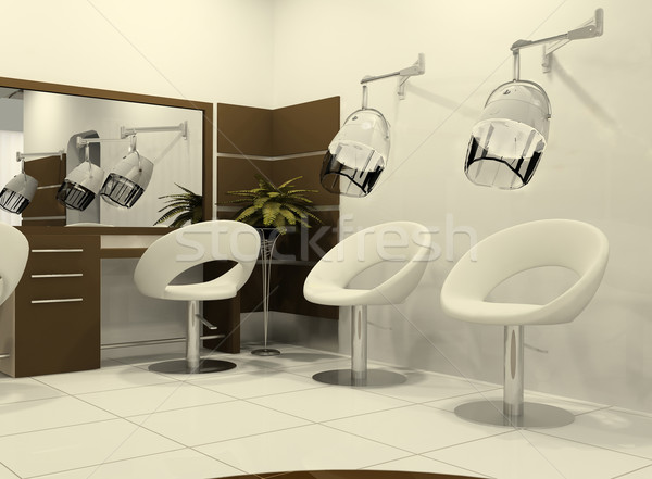 Luxurious interior of a hairdressing salon Stock photo © Victoria_Andreas