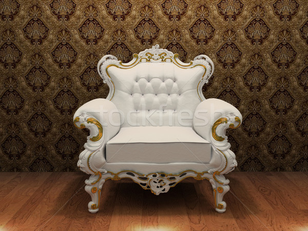luxurious armchair with decoration frame in old styled interior Stock photo © Victoria_Andreas