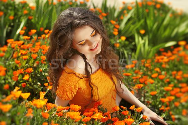 Genot gratis gelukkig vrouw genieten natuur Stockfoto © Victoria_Andreas