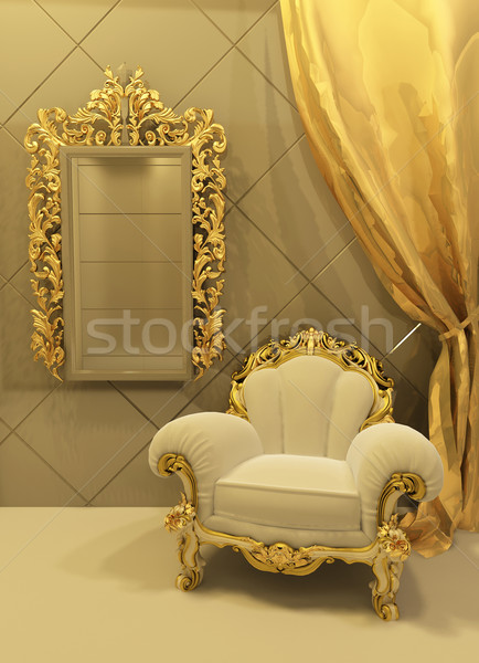 Stock photo: baroque furniture in a luxurious interior