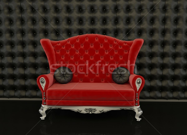 Red sofa on a black background Stock photo © Victoria_Andreas