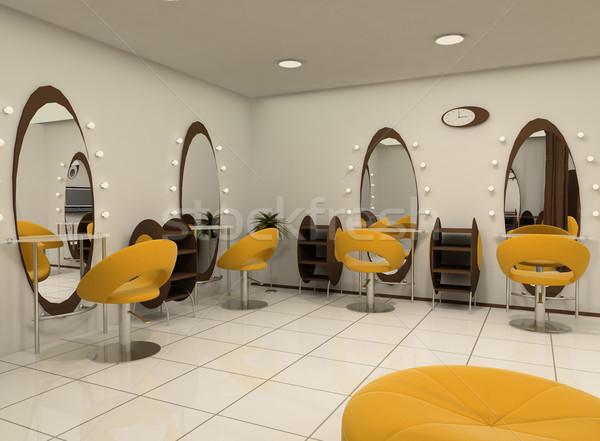 Vooruitzicht luxe schoonheidssalon salon ovaal Stockfoto © Victoria_Andreas