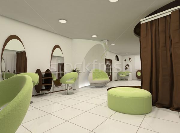 Vooruitzicht luxe schoonheidssalon bouw schoonheid stoel Stockfoto © Victoria_Andreas