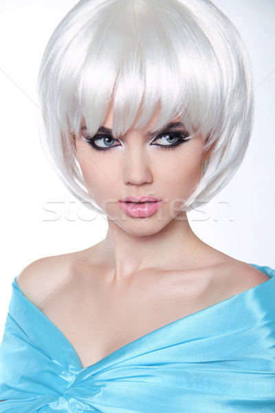 Haircut. Hairstyle. Fringe. Professional Makeup. Make-up. Vogue  Stock photo © Victoria_Andreas