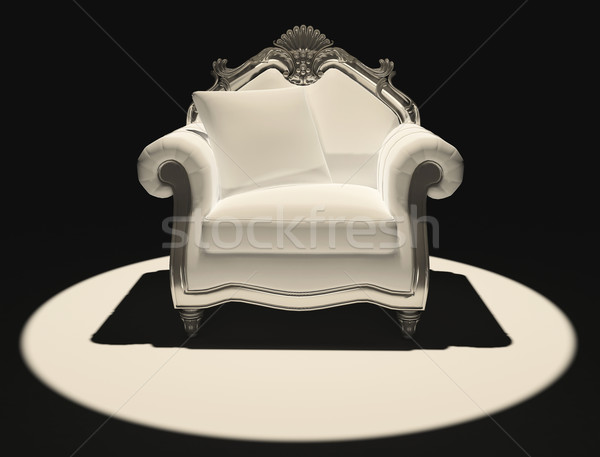 Dimostrazione classico sedia buio luce stanza Foto d'archivio © Victoria_Andreas
