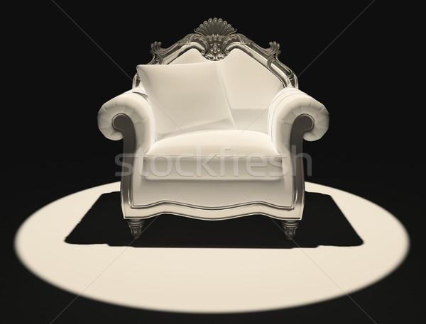 Demonstratie klassiek stoel donkere licht kamer Stockfoto © Victoria_Andreas