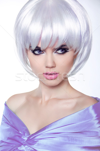 Fashion Stylish Beauty Portrait with Short Hair. Haircut. Hairst Stock photo © Victoria_Andreas