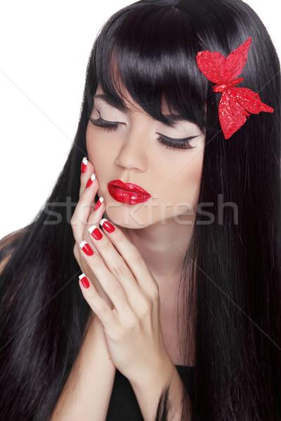Mode beauté fille longtemps Photo stock © Victoria_Andreas