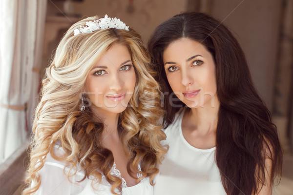 здорового волос два красивой девочек брюнетка Сток-фото © Victoria_Andreas