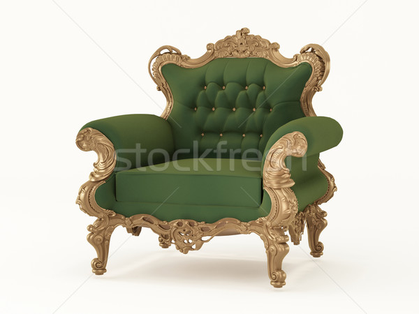 Royal armchair with luxurious frame. Fabric furniture Stock photo © Victoria_Andreas