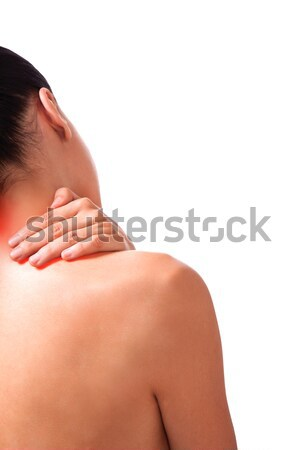 neck pain woman Stock photo © vilevi