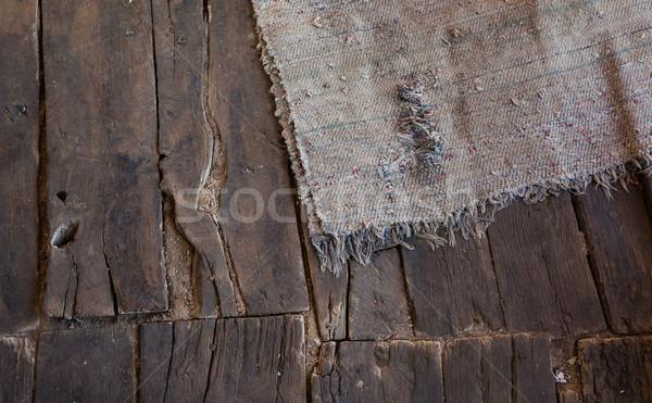 Old Wooden Floor Rug Stock photo © vilevi