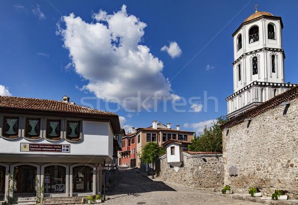 старый город мнение один основной улиц Болгария Сток-фото © vilevi