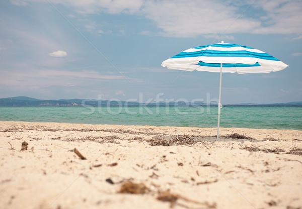 Sun Umbrella Sea Beach Stock photo © vilevi