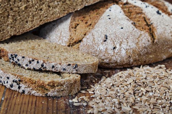 bread slices wheat grain Stock photo © vilevi