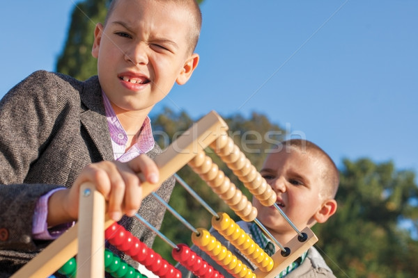 math back to school abacus Stock photo © vilevi