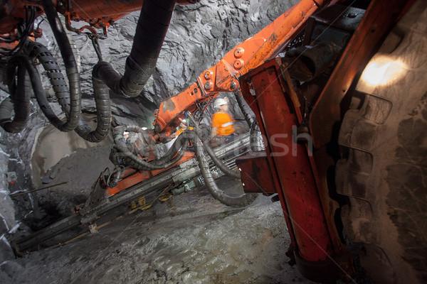 Ouro mineração máquina túnel subterrâneo Foto stock © vilevi