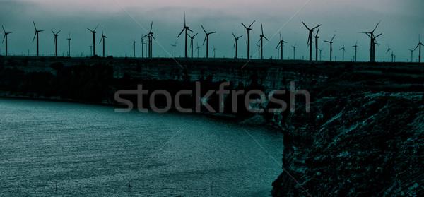énergie mer côte éolienne électricité Photo stock © vilevi