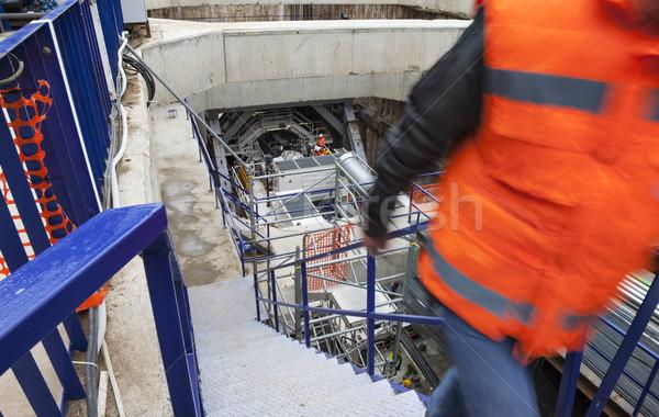 Földalatti építkezés bánya fúrás metró alagút Stock fotó © vilevi