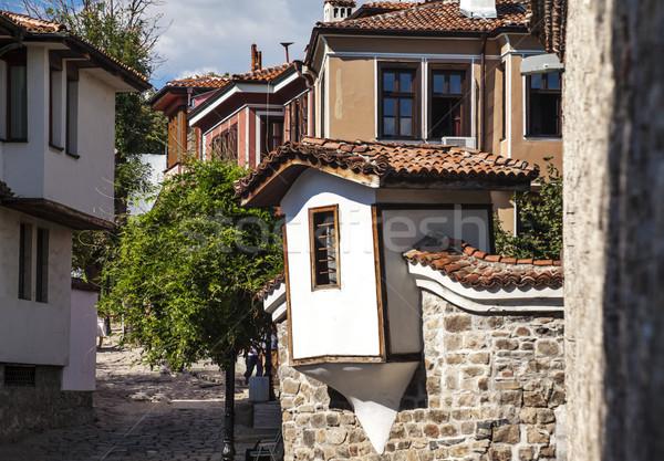 Città vecchia view case Bulgaria Europa muro Foto d'archivio © vilevi
