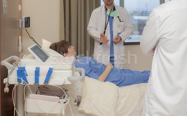 Hospital Patient Diagnosis Stock photo © vilevi