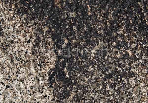 花崗岩 パターン クローズアップ 古い 石 黒 ストックフォト © vilevi