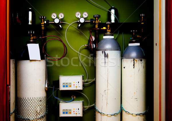 pressure station system bottle gases Stock photo © vilevi