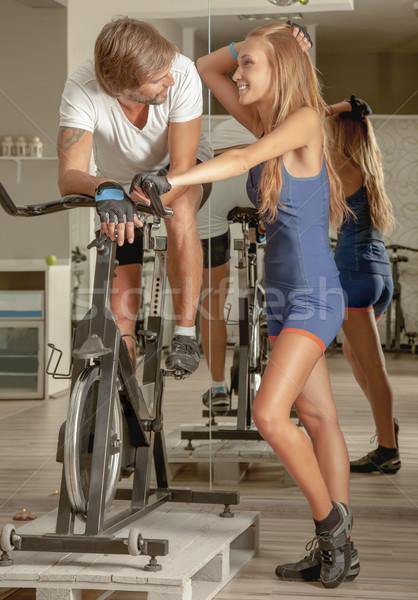 Indoor Activities Fitness Active People Affection Stock photo © vilevi