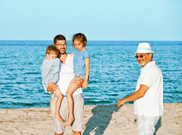 Family sea vacation generations Stock photo © vilevi