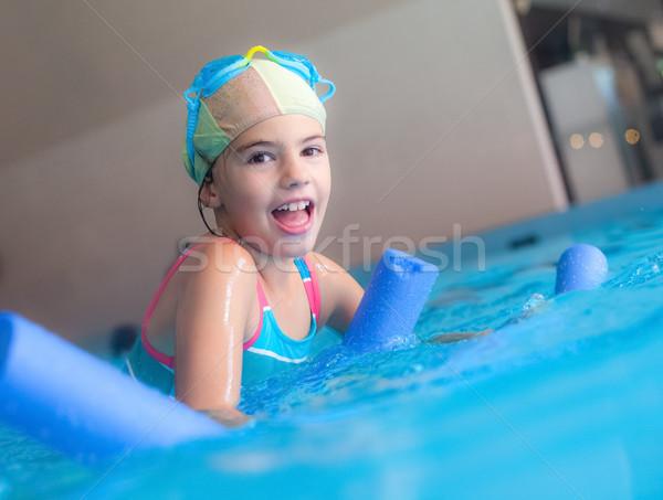 Бассейн девушки пена молодые счастливая девушка Сток-фото © vilevi