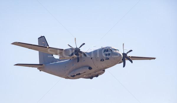 Katonaság teher repülőgép nehéz erő modern Stock fotó © vilevi