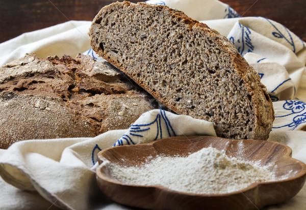 Whole grain bread Stock photo © vilevi
