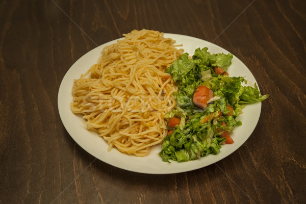 Spaghetti Salad Dish Stock photo © vilevi