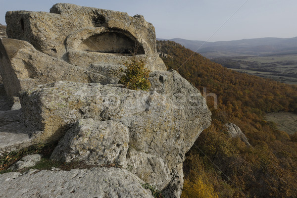 Sarcophagus Rock Trakia Bulgaria Stock photo © vilevi