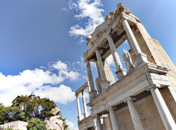 Roman amphitheatre old Plovdiv Stock photo © vilevi