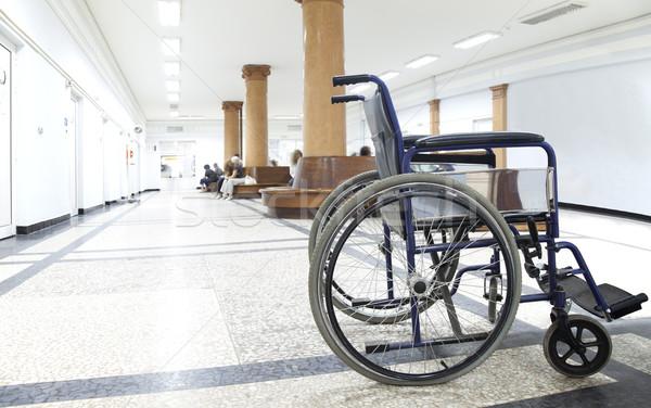 коляске больницу коридор пусто свет расплывчатый Сток-фото © vilevi