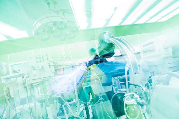 Abstract ospedale moderno immagine chirurgia verde Foto d'archivio © vilevi