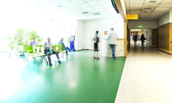 Hospital corridor reception Stock photo © vilevi
