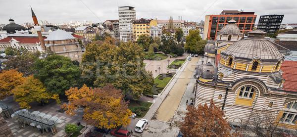 Sófia Bulgária outono horizontal ver centro da cidade Foto stock © vilevi