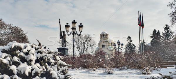 Catedral invierno Sofía Bulgaria tiempo nieve Foto stock © vilevi