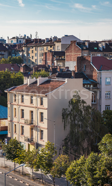 Roofs buildings Sofia Bulgaria Stock photo © vilevi